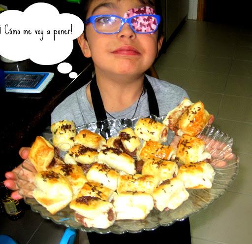 Cocinando entre Gamusinos: PequeNapolitanas de chocolate