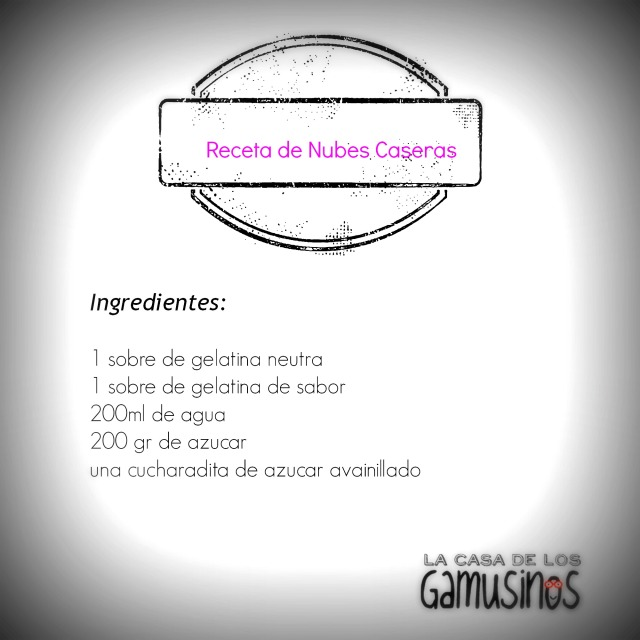 receta de nubes -ingredientes