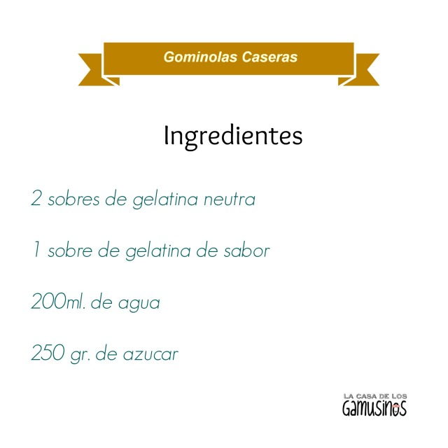 Receta Gominolas Caseras